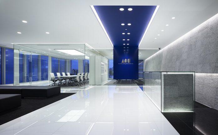 Fantastisk belysningsinställning som gör kontorsatmosfären underbar